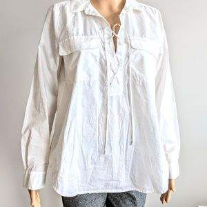 Two by Vince Camuto long sleeve cotton blouse